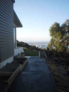 A contrast in styles hillside garden and inner city for Landscape design jobs new zealand