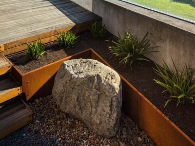 Corten planter detail
