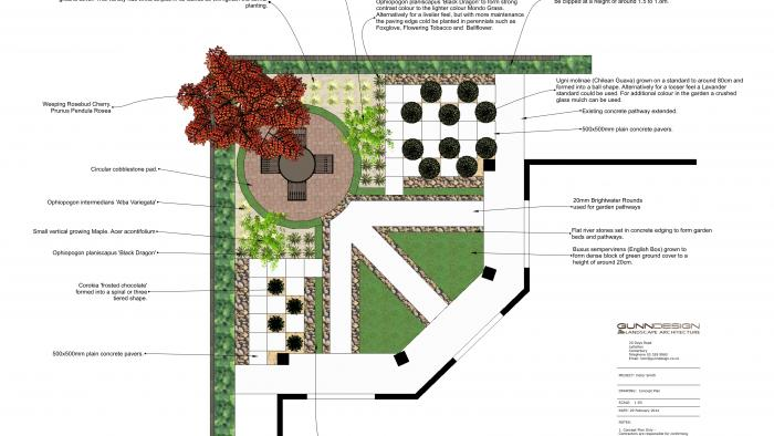 Courtyard design plan