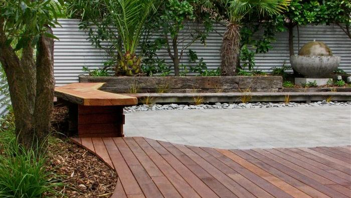 Custom garden bench & decking - Gunn Design landscaping example property