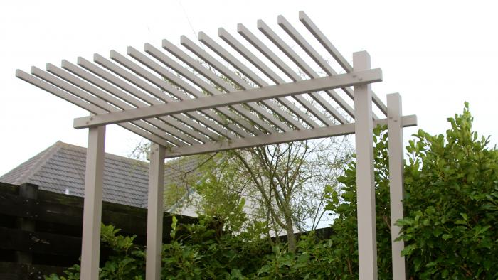 Pergola and native grasses