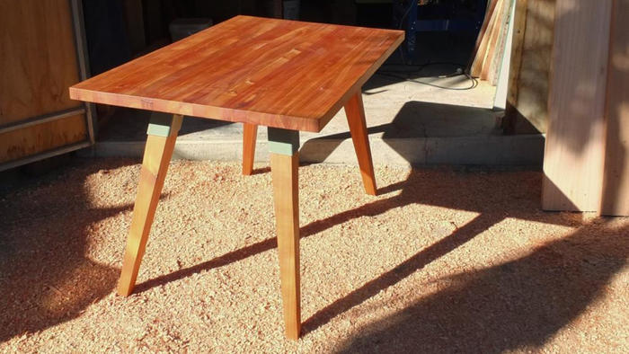 Macrocarpa dining table