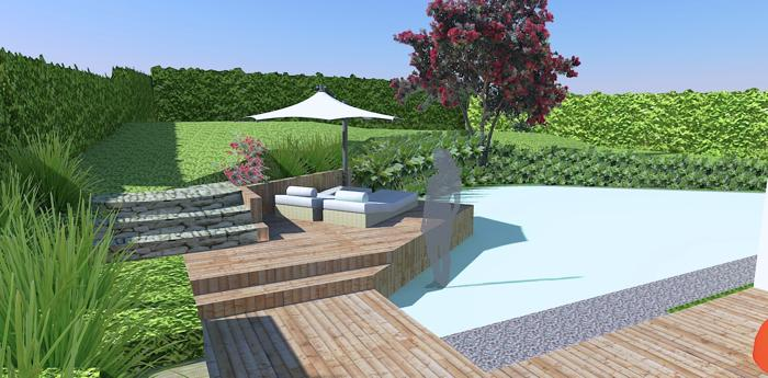 Concept Drawing For Seat And Decking Area Gunn Landscape Design